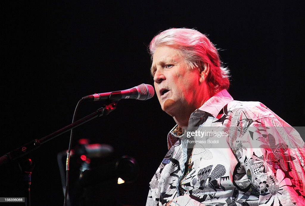 Brian Wilson of The Beach Boys performs with the KLOS All Star Band at the 95.5 KLOS Christmas Show held at Nokia Theatre L.A. Live on December 13, 2012 in Los Angeles, California.