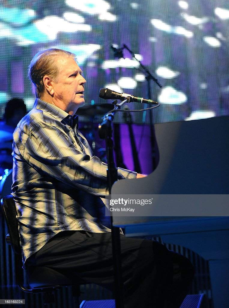 Brian Wilson performs at Chastain Park Amphitheater on October 4, 2013 in Atlanta, Georgia.