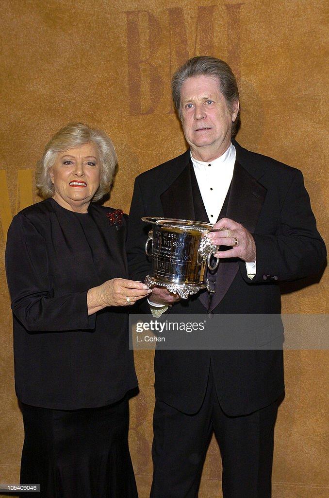 Brian Wilson (right) recieves the BMI ICON award from Frances W. Preston, president/CEO of BMI