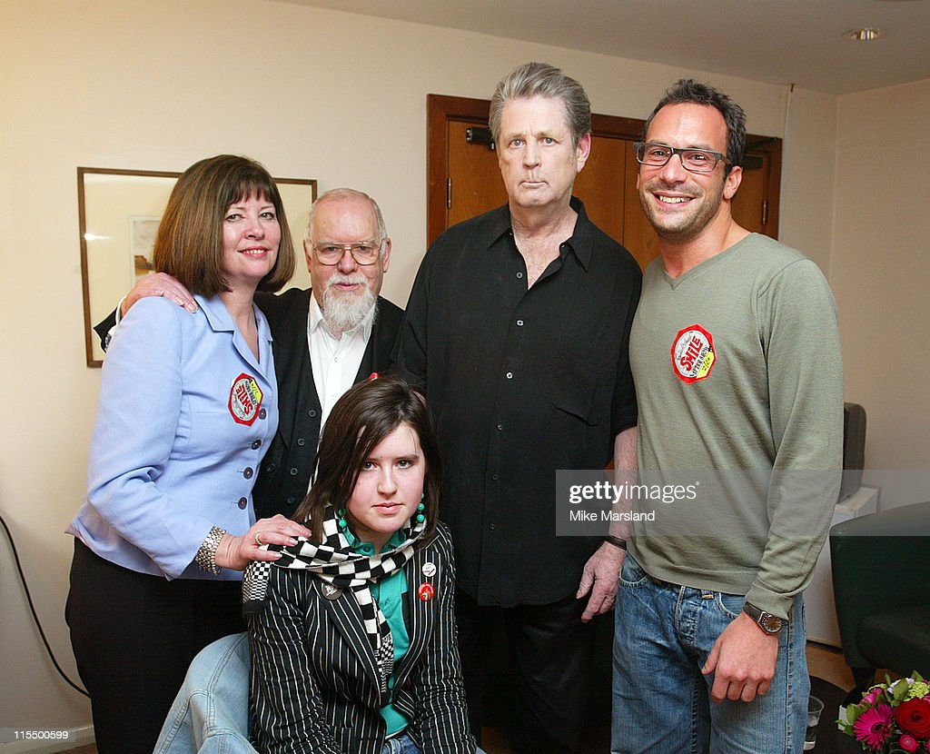 Brian Wilson with artist Peter Blake and family