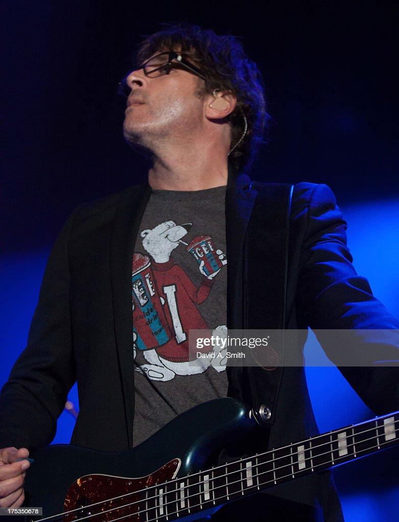 Brian Yale of Matchbox Twenty performs at the Verizon Wireless Music Center on August 2, 2013 in Birmingham, Alabama.