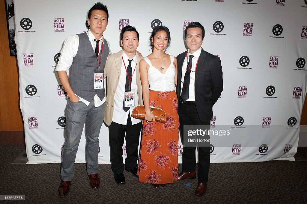 Brian Yang, Eddie Mui, Nadine Troung, and West Liang attend the 2013 LA Asian Pacific Film Festival - opening night premiere of 'Linsanity' at the Directors Guild Of America on May 2, 2013 in Los Angeles, California.