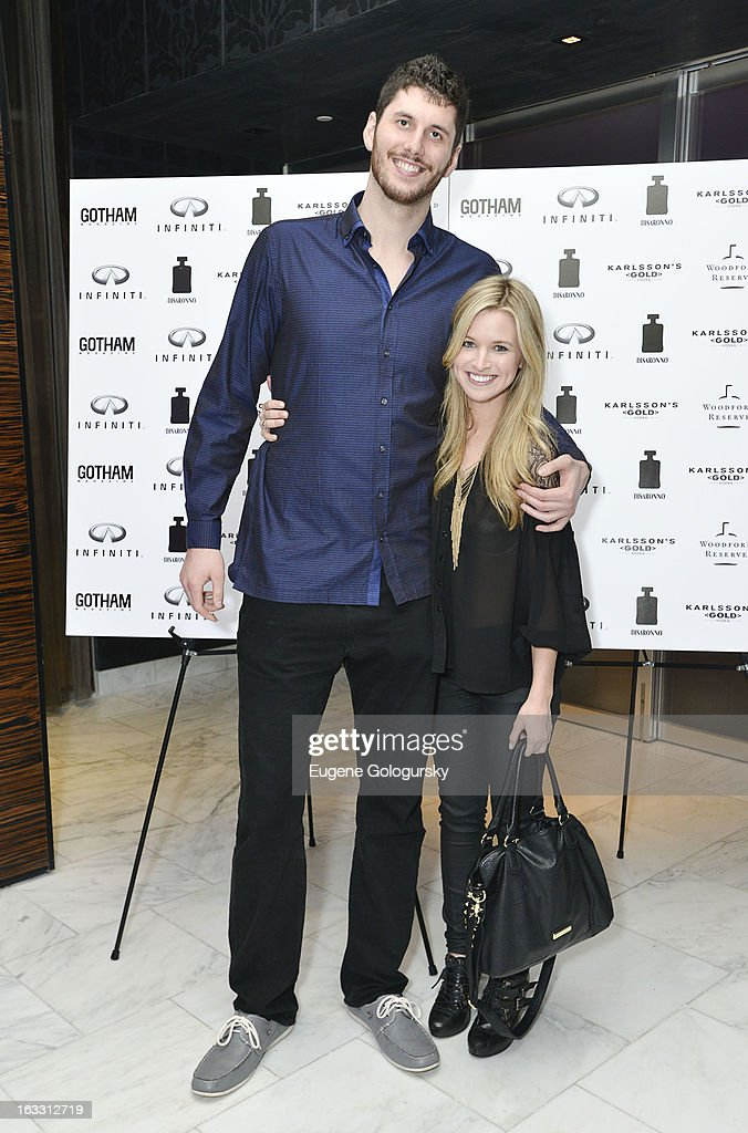 <a gi-track='captionPersonalityLinkClicked' href=/galleries/search?phrase=Brian+Zoubek&family=editorial&specificpeople=4091585 ng-click='$event.stopPropagation()'>Brian Zoubek</a> and Sarah Merrill attend the Gotham Magazine And Infiniti Invite You To A Culinary Event At ESPACE on March 7, 2013 in New York City.