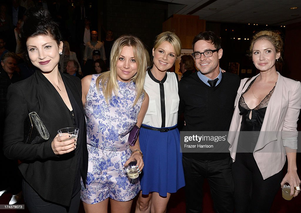 Briana Cuoco, Kaley Cuoco, Ali Fedotowsky, Kevin Manno and Ashley Jones attend the after party for the premiere of 'Blue Jasmine' hosted by AFI & Sony Picture Classics at AMPAS Samuel Goldwyn Theater on July 24, 2013 in Beverly Hills, California.