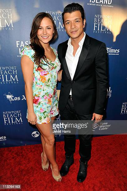 Briana Evigan and Jerico Rosales arrive at the 2011 Newport Beach Film Festival Opening Night at Edwards Big Newport on April 28 2011 in Newport...