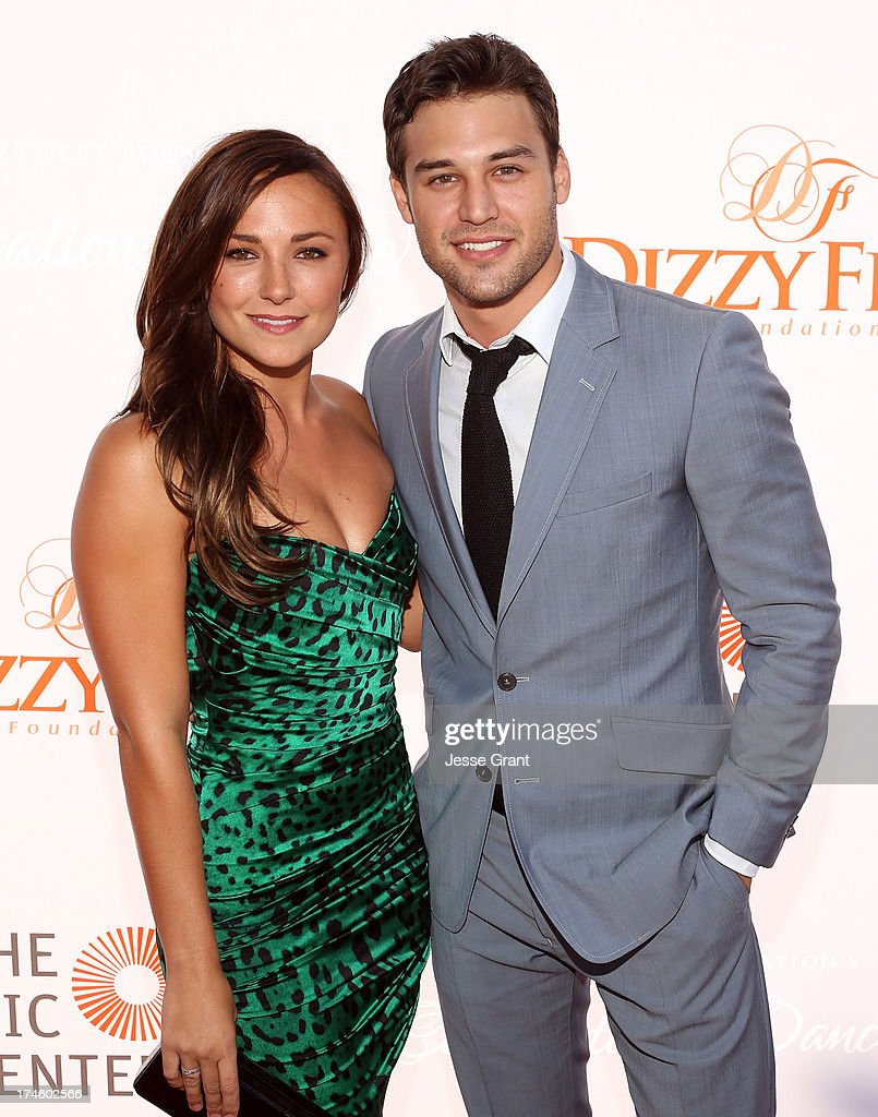 Briana Evigan and Ryan Guzman attend the Dizzy Feet Foundation Third 'Celebration of Dance' Gala at The Music Center on July 27, 2013 in Los Angeles, California.