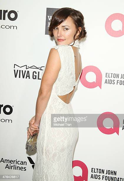 Briana Evigan arrives at the 22nd Annual Elton John AIDS Foundation's Oscar viewing party held on March 2 2014 in West Hollywood California