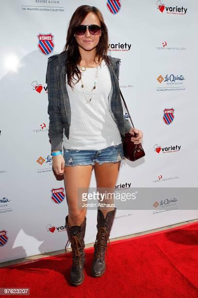 Briana Evigan attends the 6th Annual KSwiss Desert Smash Day 1 at La Quinta Resort and Club on March 9 2010 in La Quinta California