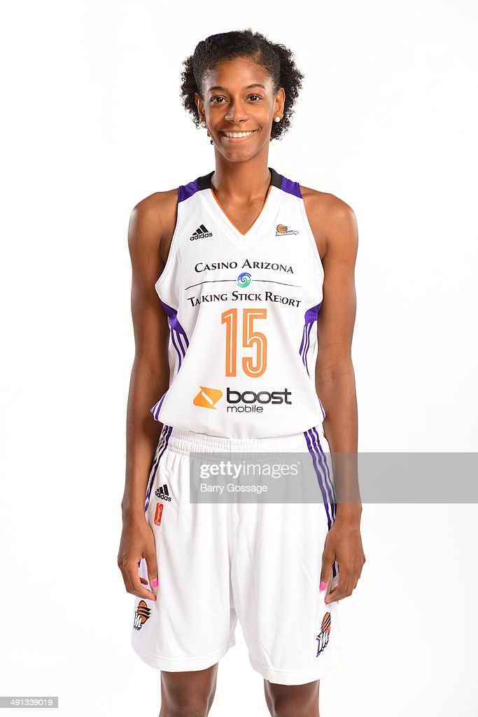 Briana Gilbreath #15 of the Phoenix Mercury poses for a photo during the Phoenix Mercury Media Day on May 13, 2014 at US Airways Center in Phoenix, Arizona.