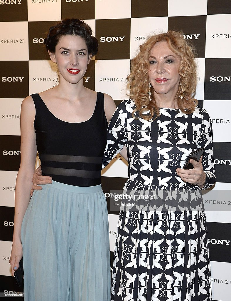Brianda Fitz James Stuart and Maria Eugenia Fernandez de Castro attend Sony Xperia Z1 photography exhibition at the Real Jardin Botanico on October 30, 2013 in Madrid, Spain.