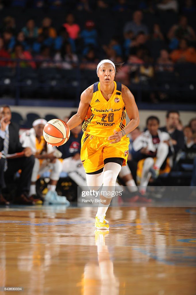 <a gi-track='captionPersonalityLinkClicked' href=/galleries/search?phrase=Briann+January&family=editorial&specificpeople=4530291 ng-click='$event.stopPropagation()'>Briann January</a> #20 of the Indiana Fever brings the ball up court against the Chicago Sky on June 29, 2016 at Allstate Arena in Rosemont, IL.