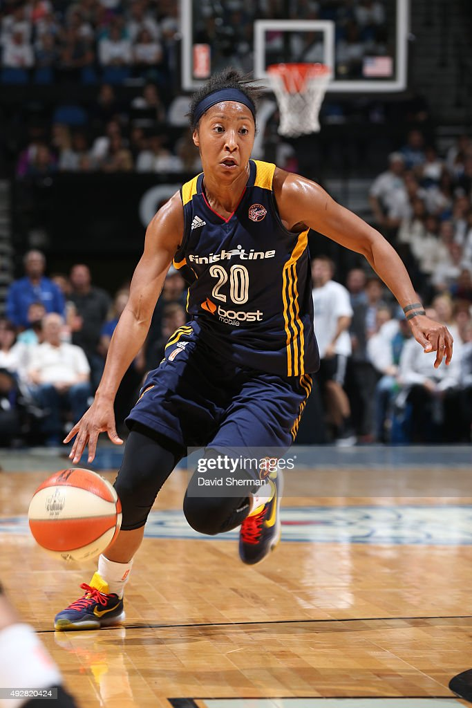 <a gi-track='captionPersonalityLinkClicked' href=/galleries/search?phrase=Briann+January&family=editorial&specificpeople=4530291 ng-click='$event.stopPropagation()'>Briann January</a> #20 of the Indiana Fever handles the ball against the Minnesota Lynx during Game 5 of the 2015 WNBA Finals on October 14, 2015 at Target Center in Minneapolis, Minnesota.