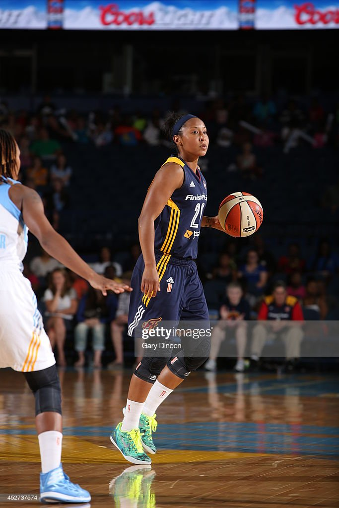 <a gi-track='captionPersonalityLinkClicked' href=/galleries/search?phrase=Briann+January&family=editorial&specificpeople=4530291 ng-click='$event.stopPropagation()'>Briann January</a> #20 of the Indiana Fever handles the ball against the Chicago Sky on July 22, 2014 at the Allstate Arena in Rosemont, Illinois.