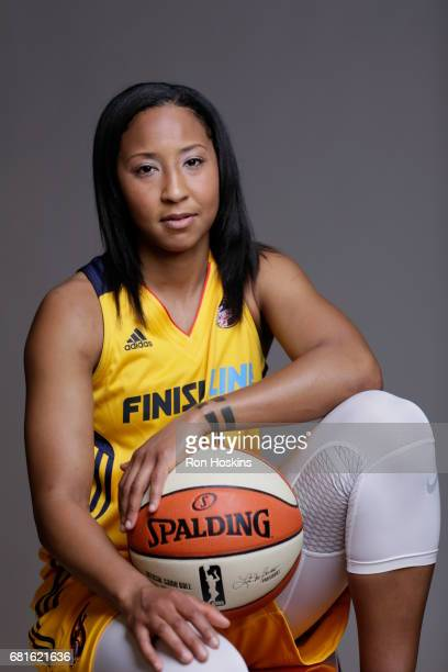Briann January of the Indiana Fever poses for a portrait during Media Day at Bankers Life Fieldhouse on May 9 2017 in Indianapolis Indiana NOTE TO...