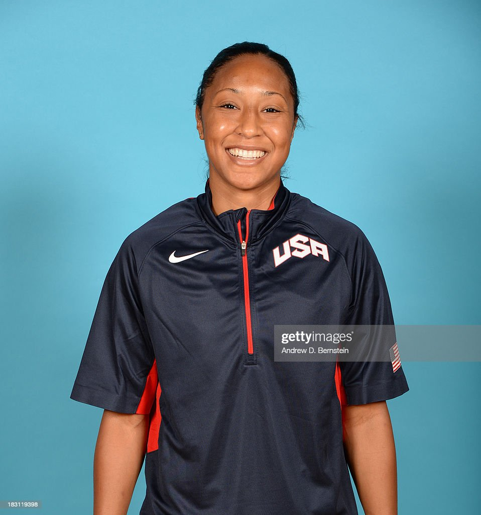Briann January poses for a head shot during the USA Womens National Team Mini-Camp on October 4, 2013 at the Cox Pavilion in Las Vegas, Nevada.