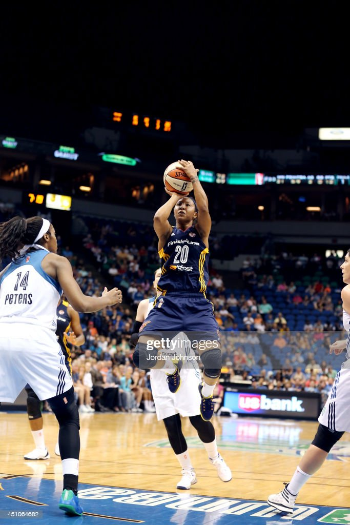 Briann January #20 shoots against the Minnesota Lynx on June 22, 2014 at Target Center in Minneapolis, Minnesota.