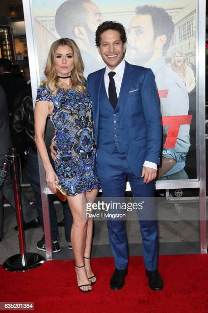 Brianna Brown and Richie Keen attend the premiere of Warner Bros Pictures' 'Fist Fight' at Regency Village Theatre on February 13 2017 in Westwood...