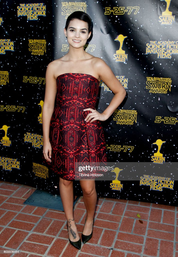 Brianna Hildebrand attends the 43rd Annual Saturn Awards at The Castaway on June 28, 2017 in Burbank, California.