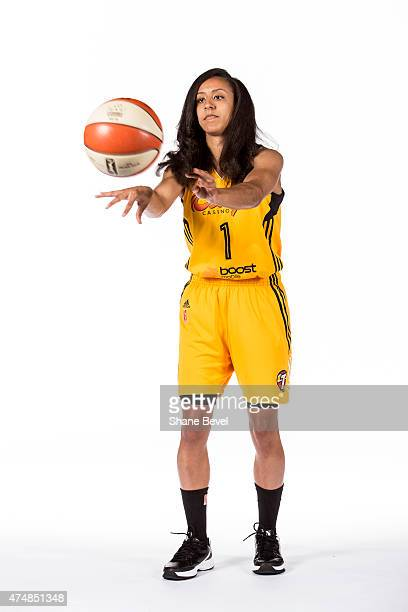 Brianna Kiesel of the Tulsa Shock poses for a portrait during Media Day on May 26 2015 at the BOK Center in Tulsa Oklahoma NOTE TO USER User...