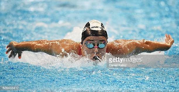 Brianna Throssell of Australia competes in the Women's 200 metre Butterfly during day five of the Australian Swimming Championships at the South...