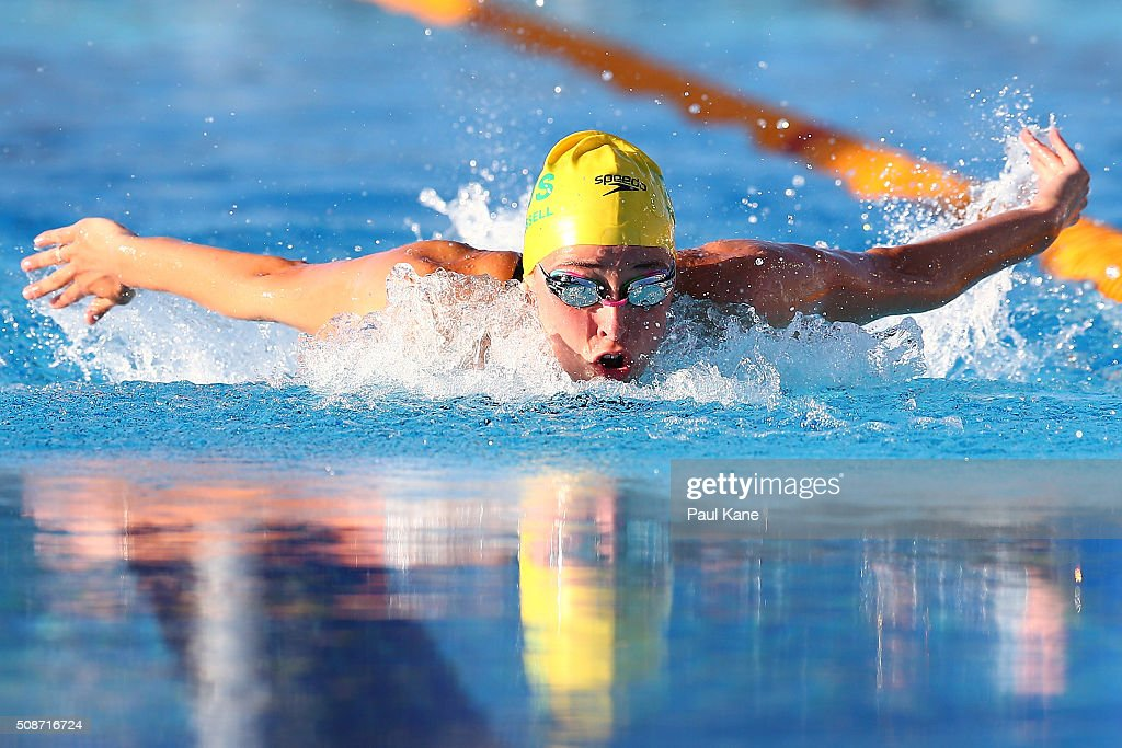 Brianna Throssell of Australia competes in the Women's 200 metre Butterfly during the 2016 Aquatic Superseries at HBF Stadium on February 6, 2016 in Perth, Australia.