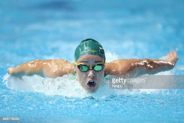 Brianna Throssell of Australia competes in the Women's 200m Butterfly Final on day two of Nanjing 2014 Summer Youth Olympic Games at Nanjing OSC...