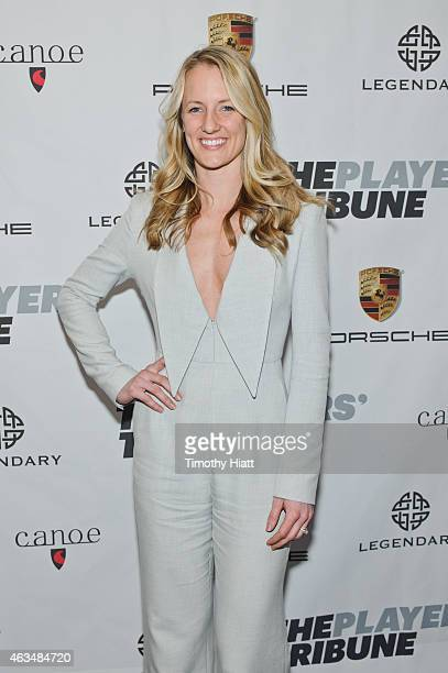 Brianne McLaughlin attends The Players' Tribune Launch Party wwwtheplayerstribunecom at Canoe Studios on February 14 2015 in New York City