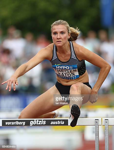 Brianne TheisenEaton in action in the 100m hurdles in the women's heptathlon during the Hypomeeting Gotzis 2016 at the Mosle Stadiom on May 28 2016...