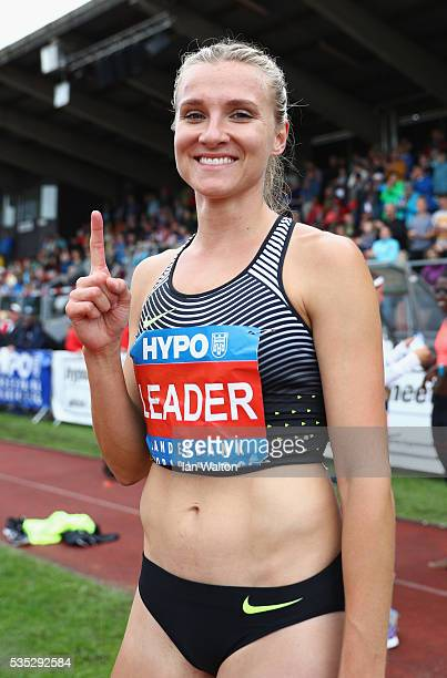 Brianne TheisenEaton of Canada celebrates winning the Women's Heptathlon during the Hypomeeting Gotzis 2016 at the Mosle Stadiom on May 29 2016 in...