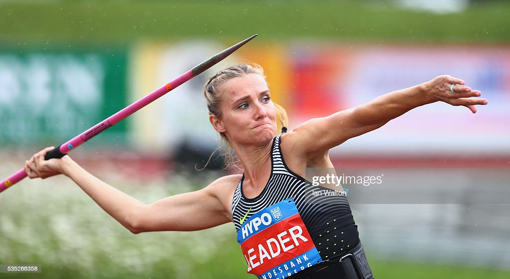 <a gi-track='captionPersonalityLinkClicked' href=/galleries/search?phrase=Brianne+Theisen-Eaton&family=editorial&specificpeople=11248599 ng-click='$event.stopPropagation()'>Brianne Theisen-Eaton</a> of Canada in action in the Women's Heptathlon javelin during the Hypomeeting Gotzis 2016 at the Mosle Stadiom on May 29, 2016 in Gotzis, Austria.