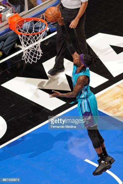 Briante Weber of the Charlotte Hornets goes to the basket against the Orlando Magic on March 22 2017 at Amway Center in Orlando Florida NOTE TO USER...