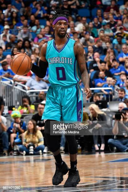 Briante Weber of the Charlotte Hornets handles the ball against the Orlando Magic on March 22 2017 at Amway Center in Orlando Florida NOTE TO USER...