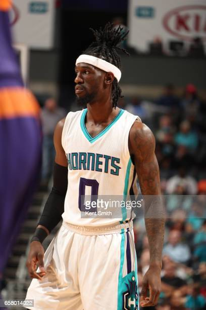 Briante Weber of the Charlotte Hornets is seen against the Phoenix Suns on March 26 2017 at Spectrum Center in Charlotte North Carolina NOTE TO USER...