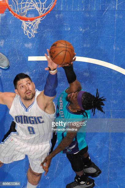 Briante Weber of the Charlotte Hornets shoots the ball against the Orlando Magic on March 22 2017 at Amway Center in Orlando Florida NOTE TO USER...