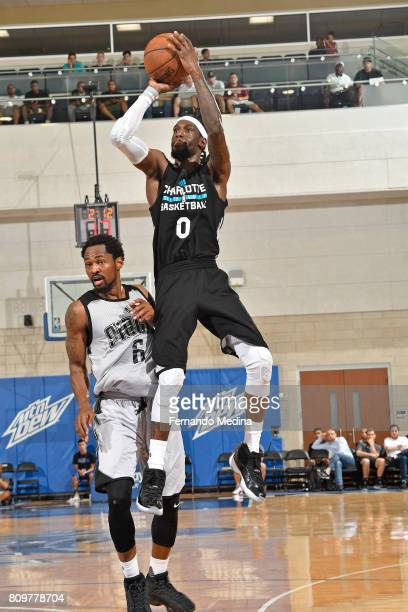 Briante Weber of the Charlotte Hornets shoots the ball against the Orlando Magic during the Mountain Dew Orlando Pro Summer League on July 6 2017 at...