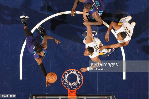 Briante Weber of the Charlotte Hornets shoots the ball during a game against the Indiana Pacers on March 15 2017 at Bankers Life Fieldhouse in...
