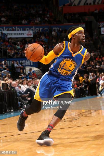 Briante Weber of the Golden State Warriors handles the ball during the game against the Oklahoma City Thunder on February 11 2017 at Chesapeake...