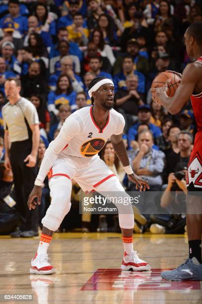 Briante Weber of the Golden State Warriors plays defense against the Chicago Bulls on February 8 2017 at ORACLE Arena in Oakland California NOTE TO...