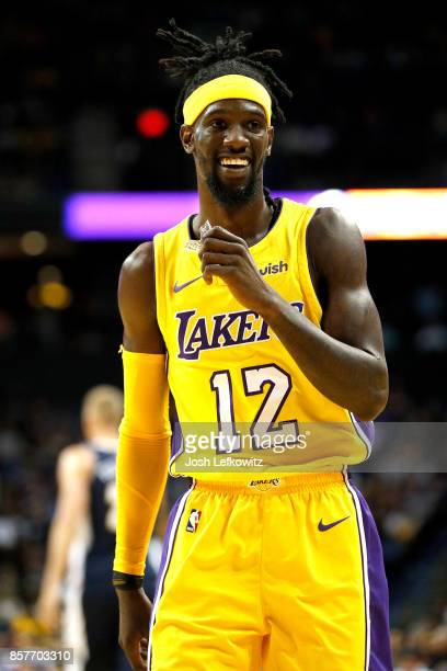 Briante Weber of the Los Angeles Lakers is seen during the second half of a preseason game against the Denver Nuggets at Citizens Business Bank Arena...