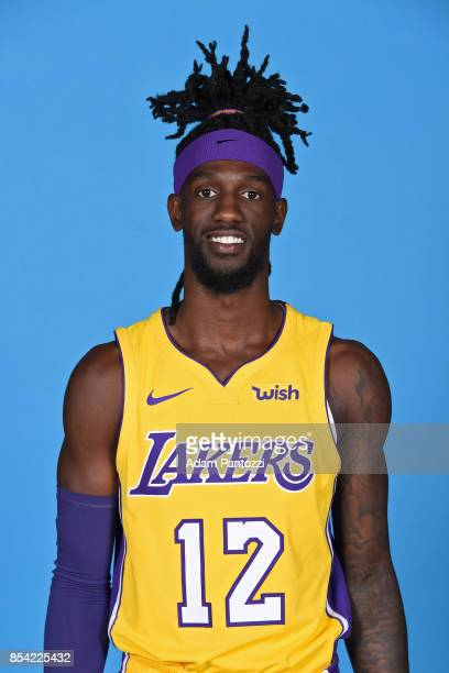 Briante Weber of the Los Angeles Lakers poses for a head shot during media day at UCLA Health Training Center on September 25 2017 in El Segundo...