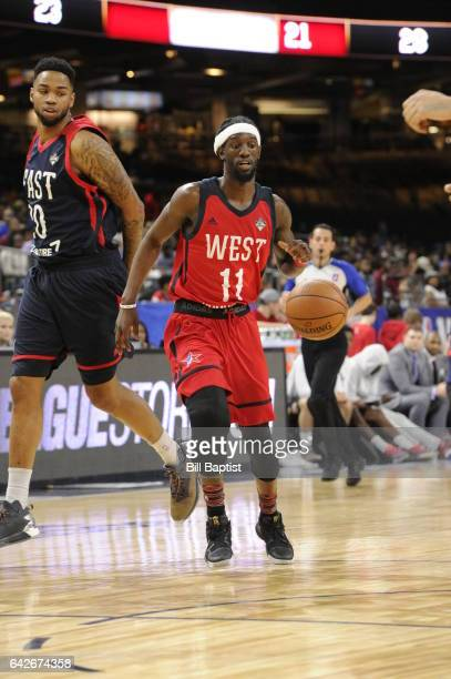 Briante Weber of the West Team drives the ball against the East Team during 2017 NBA DLeague AllStar Game Presented By Kumho Tire as a part of 2017...