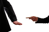A man is giving a bribe to another man