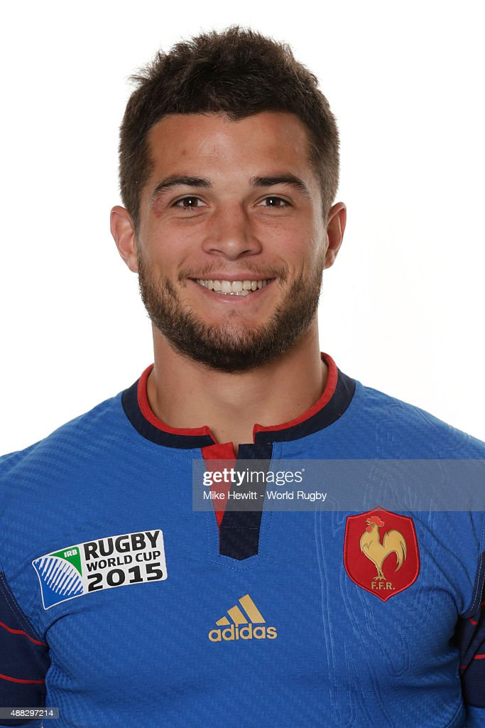 Brice Dulin of France poses during the France Rugby World Cup 2015 squad photo call at the Selsdon Park Hotel on September 15, 2015 in Croydon, England.