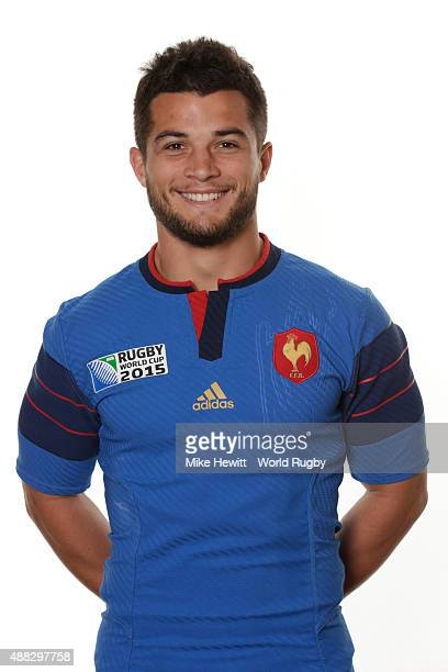 Brice Dulin of France poses during the France Rugby World Cup 2015 squad photo call at the Selsdon Park Hotel on September 15 2015 in Croydon England