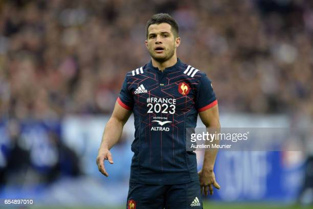 Brice Dulin of France reacts during the RBS Six Nations match between France and Wales at Stade de France on March 18 2017 in Paris France