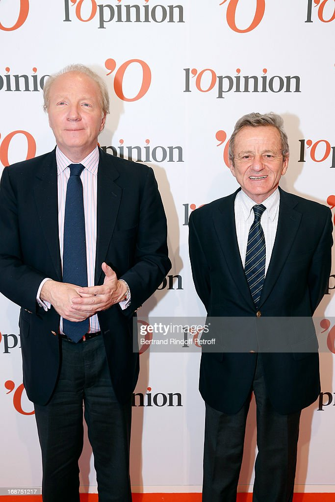 Brice Hortefeux and Alain Carignon attend 'L'Opinion' Newspaper Launch Party on May 14, 2013 in Paris, France.