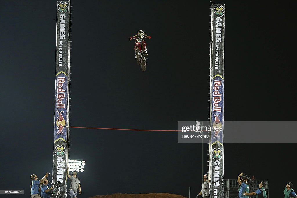 Brice Hudson during Final Moto X Step Up at the X Games on April 19, 2013 in Foz do Iguacu in National Park Iguacu.