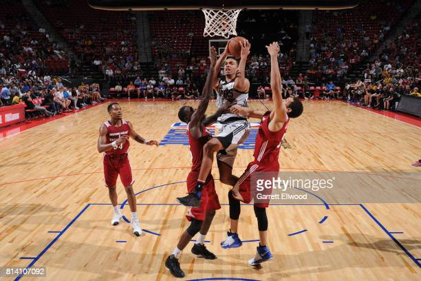 Brice Johnson of the LA Clippers goes to the basket against the Miami Heat on July 13 2017 at the Thomas Mack Center in Las Vegas Nevada NOTE TO USER...