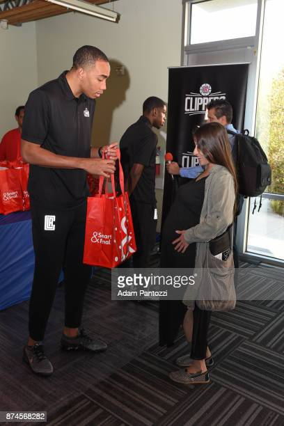 Brice Johnson of the LA Clippers help host their 29th Annual Teamwork at the Table Thanksgiving event at St Joseph Center on November 14 2017 in...