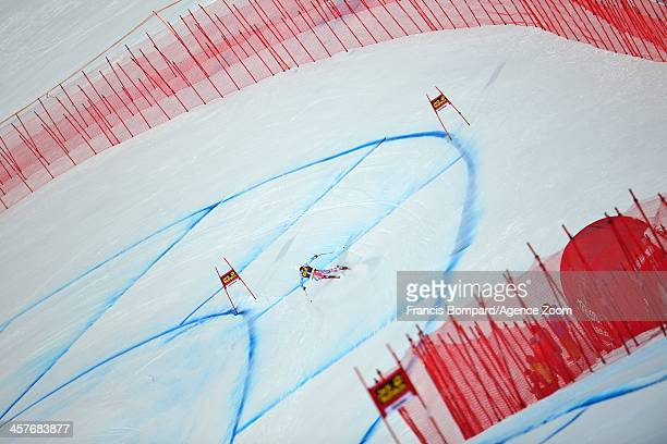 Brice Roger of France competes during the Audi FIS Alpine Ski World Cup Men's Downhill Training on December 18 2013 in Val Gardena Italy